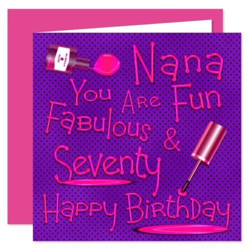Nana Happy Birthday Card Naughty Nails Design Age Range 50-75 Years
