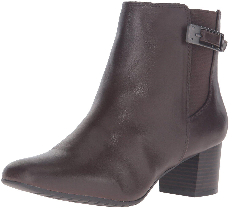 Bandolino Damenschuhe Lethia Leder Dark Closed Toe Ankle Fashion  Dark Leder Braun  Größe 7.5 C 3522e9
