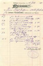 alte Rechnung,  Dettingen (Horb) Johann Kronenbitter, Sattler 1920 #E742