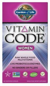 Garden Of Life Vitamin Code Women 240 Vegetarian Capsules Probiotics And Enzymes Ebay