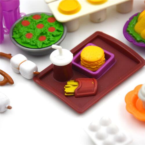 Cocina de casa de muñecas en miniatura cocina conjunto de Alimentos para Casa Muñeca Niños Juego Juguete cpev