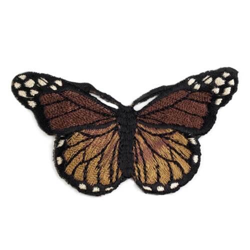 Aufbügler ca 3 realistische Schmetterling 50x70mm #9 braun