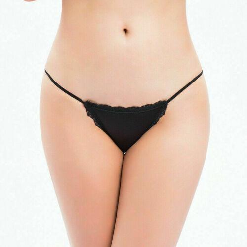 Women Lace Ice Silk Seamless G-String Thongs Panties T-back Underwear Briefs