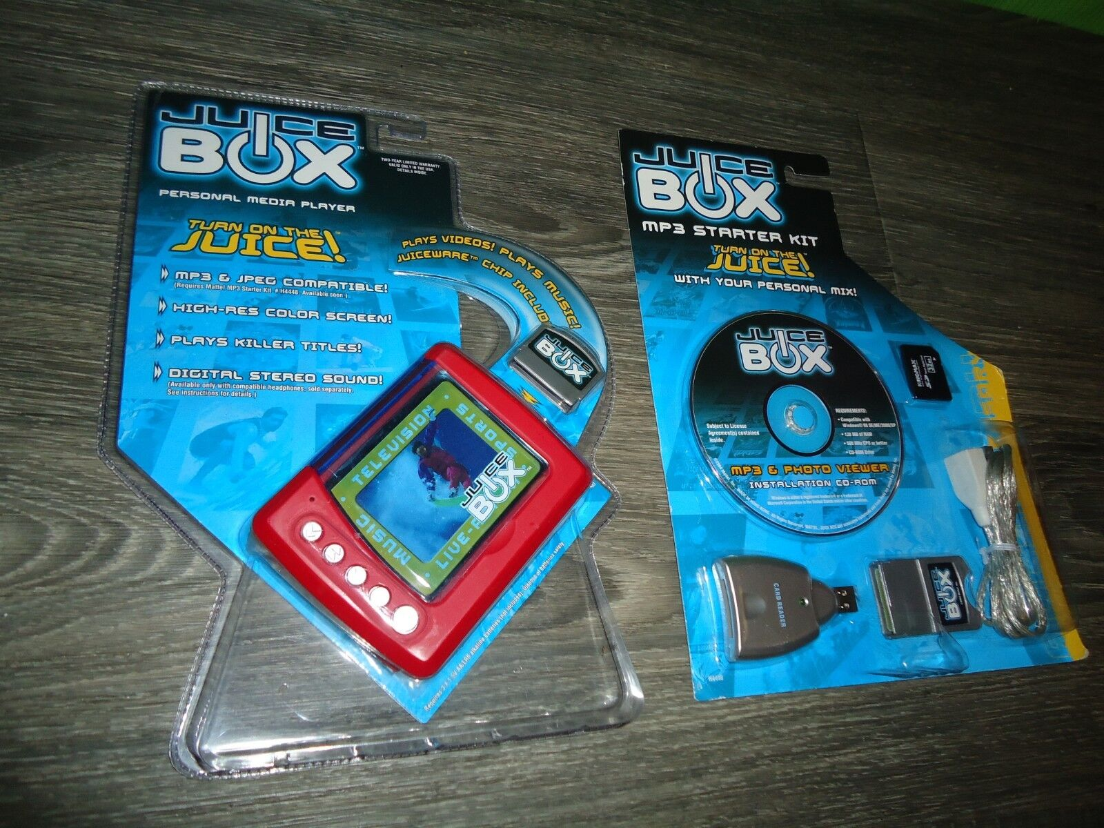 Mattel vintage Juice Box MP3 player lot MISB never opened lot here