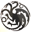 "HouseTargaryen Decal 3.5/"" 4.5/"" 5.5/"" GOT Dragons Daenerys Fire and Blood Thrones"