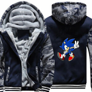 SEGA Sonic The Hedgehog Boys Pullover Hoodie with Zipper