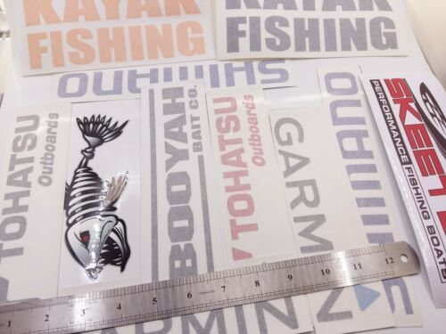 LOT of Fishing Decals Fishing Stickers LARGE for Brand Lovers 11