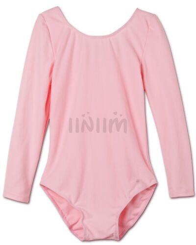 Ballet Girls/' Leotard Tutu Dress Dancewear Kids Gymnastics Long Sleeve Costume