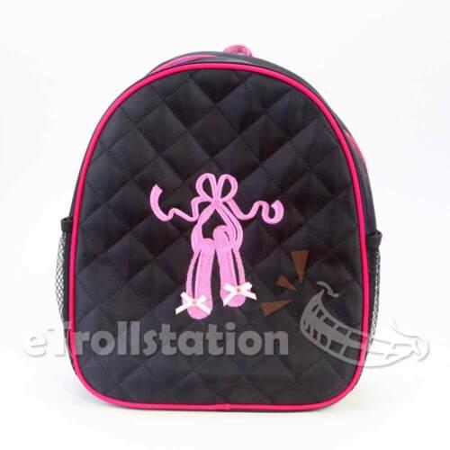 b2f4a29a582c LOVELY GIRLS LARGE Black Backpack Dance Bag Pink Ballet ShoesTap ...