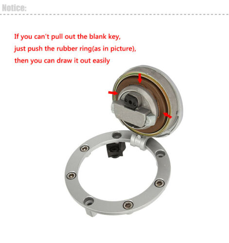 Motorcycle Fuel Gas Cap Ignition Switch Lock Key For Honda CBR600 F4 1999-2000