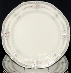 Noritake-Rothschild-5-DINNER-PLATES-Japan-Small-Flowers-EXC
