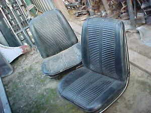 Details about 1966 chevelle pontiac gto malibu factory bucket seats with  metal trim cores