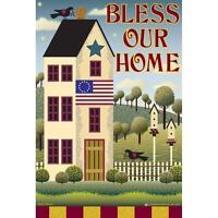 Jeremiah Junction Garden Flag Bless Our Home House Bird Houses Nip