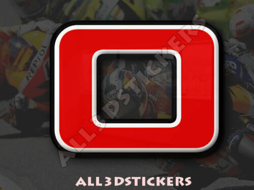 50 mm Adhesive Decal 3D Stickers Resin Domed LETTER O Color Red 2 inches