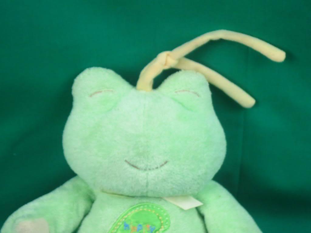 TWINKLE LITTLE STAR PRESTIGE BABY HIPPITY HOPPITY Grün FROG MUSICAL PLUSH PULL