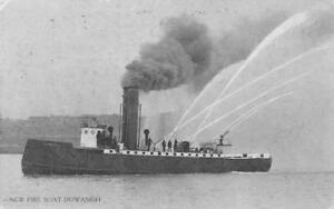 New-Fire-Boat-Duwamish-Seattle-Washington-Firefighters-1911-Vintage-Postcard
