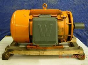 World Wide Electric Motor C Flange Mount W Base 30 Hp Wwe