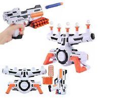 TWO PLAYER TIN CAN TARGET BLAST SHOOTING LIKE NERF GUN GAME R01-0079