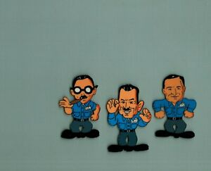 Pep-Boys-Cel-amp-Drawings-1980-039-s-Auto-supply-TV-commercial-Manny-Moe-Jack-Cigar