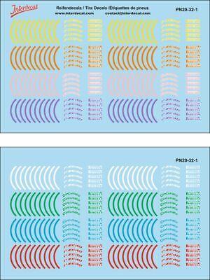 pn20-32-1 100 x 100 mm Las etiquetas de neumáticos decal f1 1//32