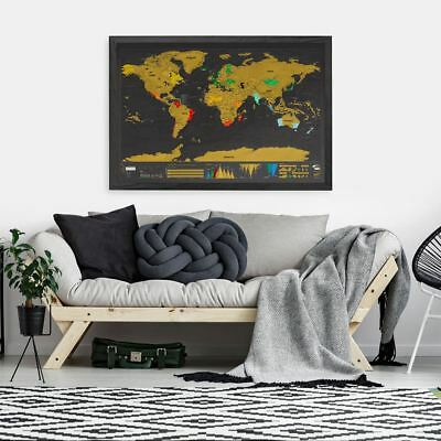 Large World Map Poster, The Scratch Map XL