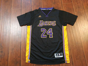 Los Angeles Lakers Kobe Bryant Black Sleeve Jersey Large Ebay