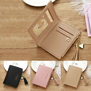 Women-Leather-Solid-Wallet-Coin-Bag-Case-Simple-Bifold-Small-Handbag-Purse