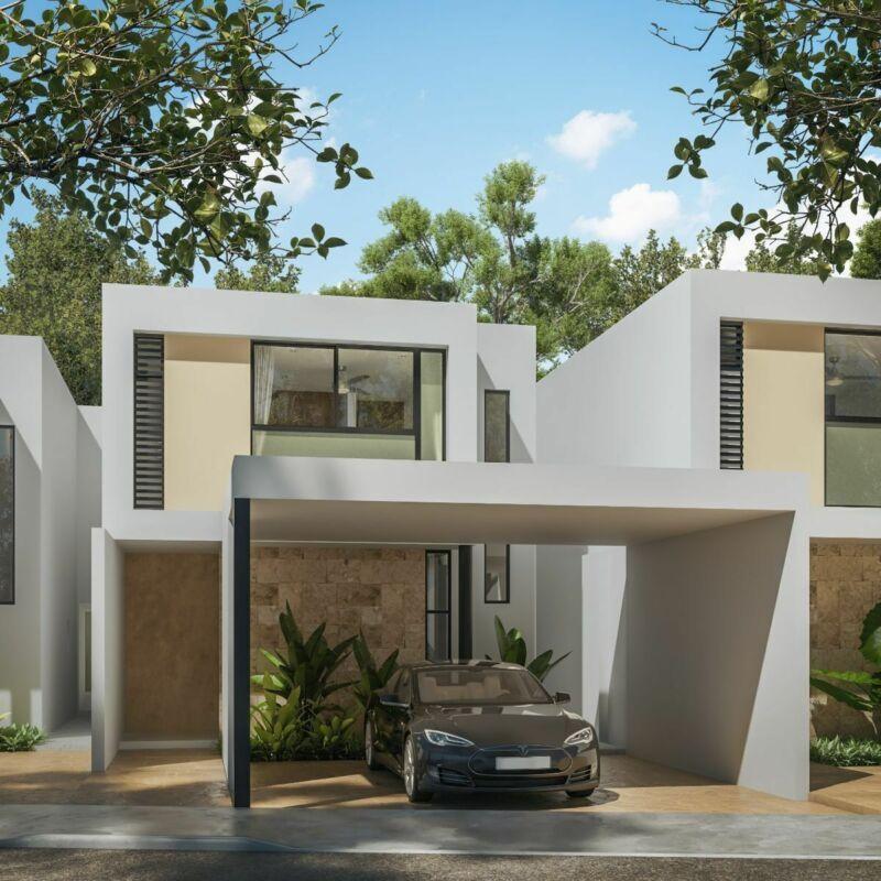 Casas ubicadas en Cholul