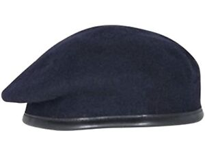 ARMY-NAVY-BLUE-BERET-OFFICER-SILK-LINED-SMALL-CROWN-HOOD-BERET-REME-RLC-RE
