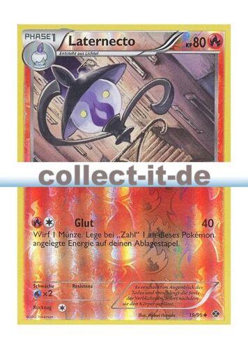 POKEMON Nero /& Bianco prossimo destini 19//99 laternecto REVERSE HOLO tedesco