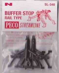 Peco-SL-340-N-Gauge-Rail-Type-Buffer-Stop-Pack-of-2-New