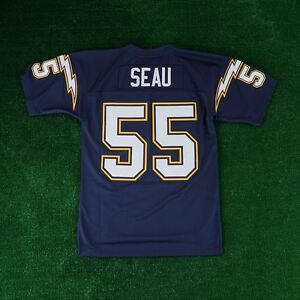 best sneakers 68129 ca5a1 Details about Junior Seau 1994 San Diego Chargers MITCHELL & NESS Home  Throwback Jersey Men's