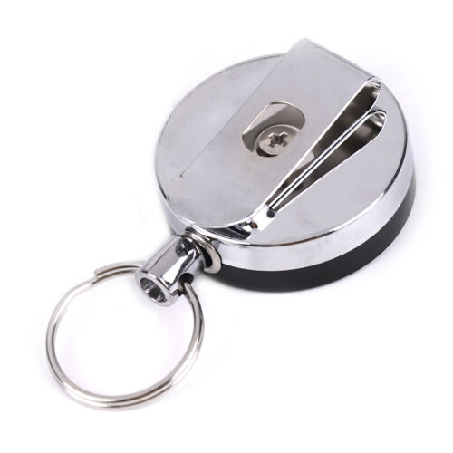 Resilience steel wire rope elastic key chain sporty retractable alarm keychaES