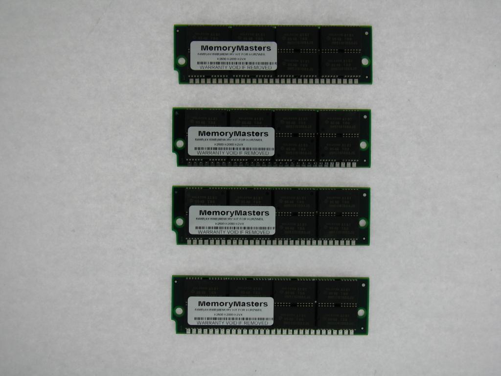 64mb 4x16mb RAM Kit 4 Kurzweil K2500 K2000 K2vx