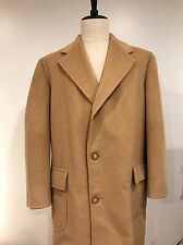 VTG Brooks Brothers Men's Camel Hair Wool Overcoat Made USA Size 42 EUC