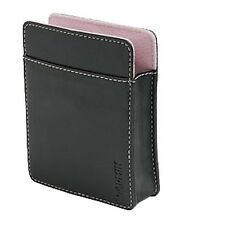"""NEW GENUINE Garmin nuvi 3.5"""" Leather Carrying Case BLACK/PINK 010-10936-01"""