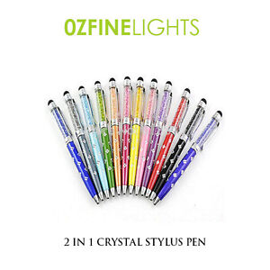 Quality-Diamond-flower-Crystal-2in1-Stylus-Pen-For-Touch-Screen-Devices