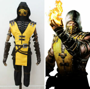New Mortal Kombat X Scorpion Costume Halloween Cosplay Without The