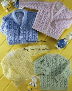 d3e69c3dc 500) Knitting Pattern for Baby Boy Girl Cable and Lace Sweater ...