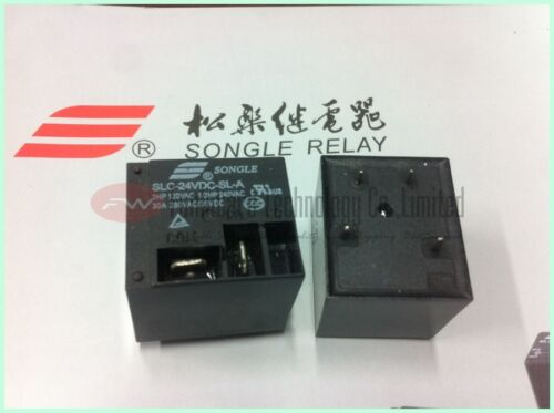 SLC-24VDC-SL-A Power Relay 30A 24VDC T91 4 Pins x 10pcs