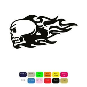 Iron-On-Flaming-Skull-Vinyl-Heat-Transfer-Sticker-HTV-Decal-T-Shirt-Clothing