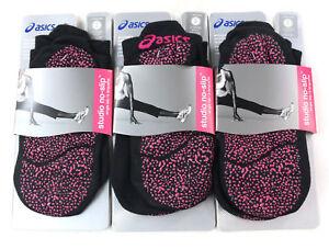 ASICS-Womens-Studio-No-Slip-Single-Tab-Sock-Black-Small-Size-6-7-5-Pack-Of-3