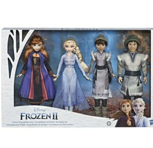 Frozen 2 Forest Expedition Fashion Doll Playset Anna Elsa Ryder Honeymaren Gift
