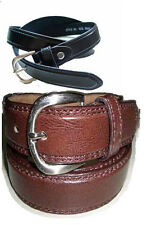SKU 8577-34 Medium Brown Ranger Belt with Small Stitching