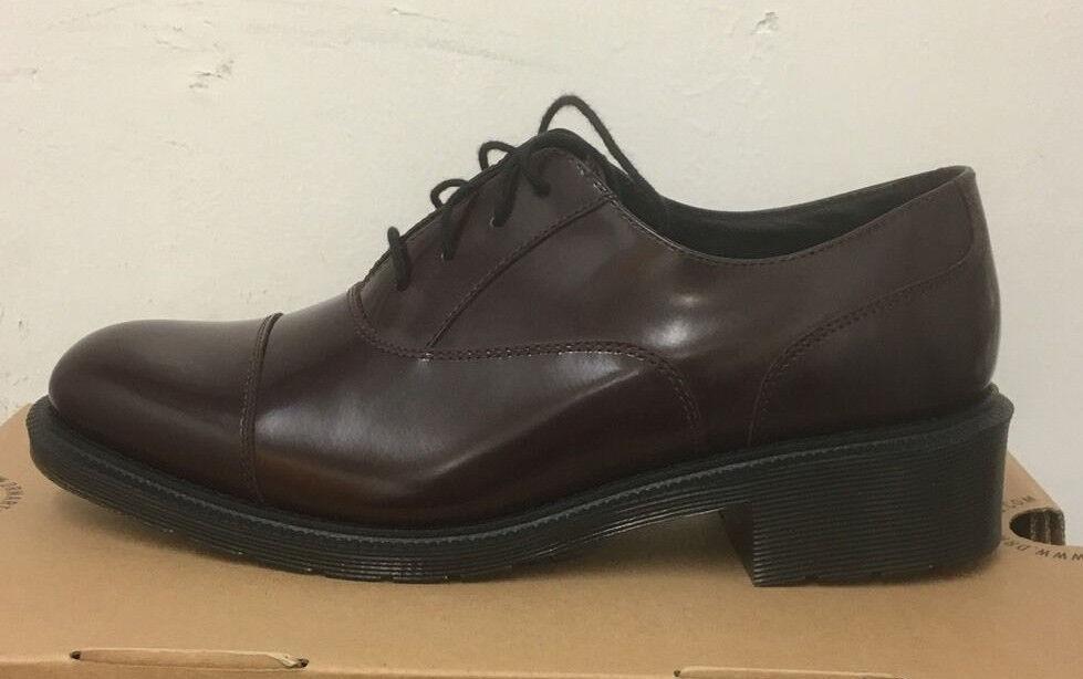 Zapatos De Cuero Dr. Martens Henrietta rojizo Cera 3 Pulido Liso Talla 3 Cera UK ede1e9