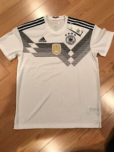 check out 4193d bc15a Details about Adidas Germany DFB 2018 World Cup Home Jersey White Size S  BNWT BR7843
