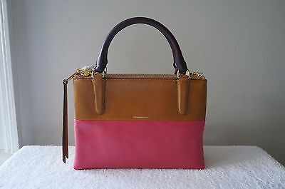 NEW Coach Purse Retro Colorblock Leather 32503 Mini BOROUGH Shoulder Satchel Bag