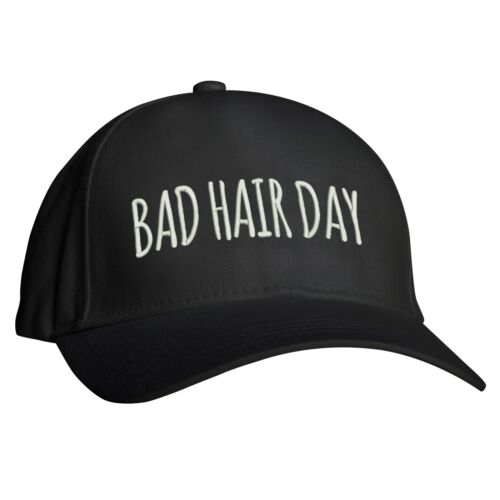 Embroidered Design Bad Hair Day Baseball Cap Bad Hair Humor Funny Design Hat