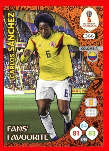 Card Fans Favourite 366 WC RUSSIA 2018 SANCHEZ Panini Adrenalyn COLOMBIA