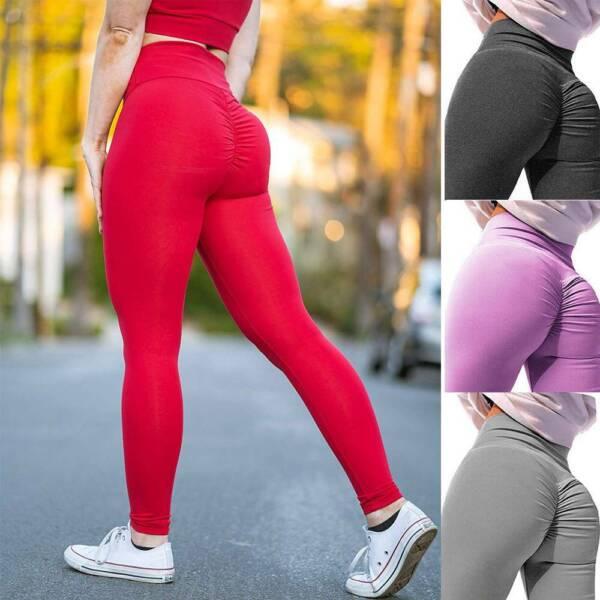 Damen Leggings Push up Stretch Yoga Hose Gym Fitness Sport Jogginghose Leggins